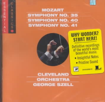 MOZART:SYMS NOS 35 40 & 41 BY SZELL,GEORGE/CLEVEL (CD)